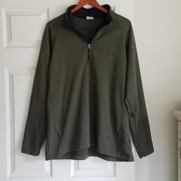 Columbia XXL Green Fleece Inside Light Jacket